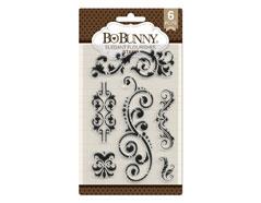 7310534 Set sellos acrilicos florituras elegantes 11x19cm BoBunny - Ítem