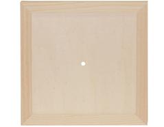 7615 Reloj madera de pino macizo cuadrado con vidrio Innspiro - Ítem