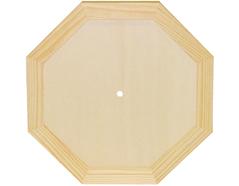 7616 Reloj madera de pino macizo octogonal con vidrio Innspiro