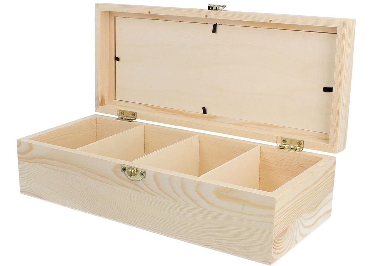 Caja Madera De Pino Macizo Con Vidrio Y Separadores Manualidades  ~ Cajas De Madera Con Tapa De Cristal