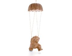 76271B Perro paracaidas papel mache Innspiro