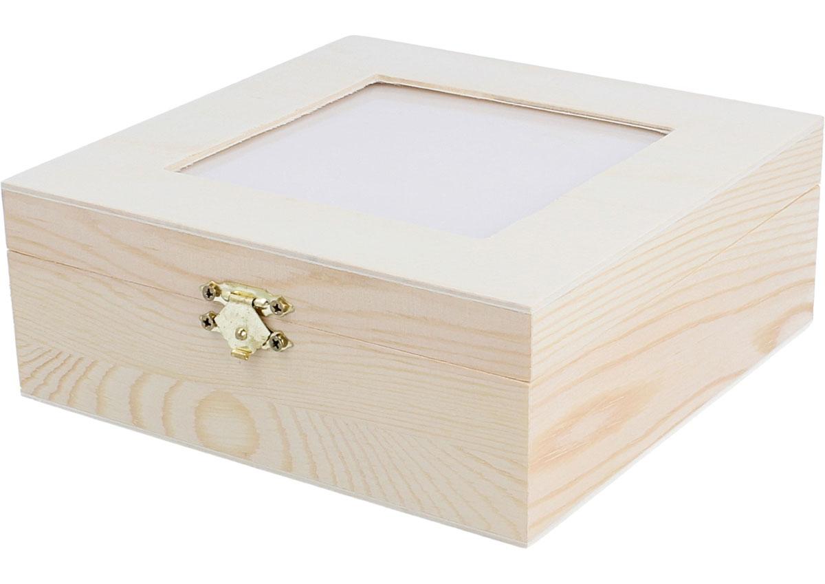 Caja madera para infusiones pino macizo con vidrio y - Cajas de madera ...