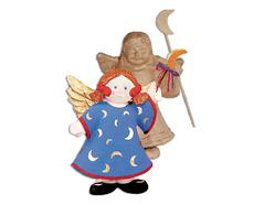 76336A Angel con luna papel mache Innspiro