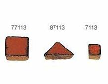 77113 Z77113 TESELAS CUADRADAS 19mm Naranja Oscuro Innspiro