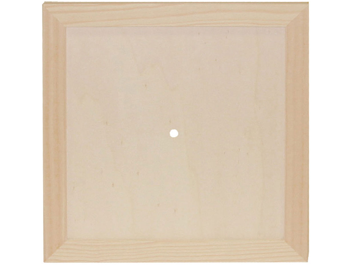 7715 Reloj madera de pino macizo cuadrado Innspiro