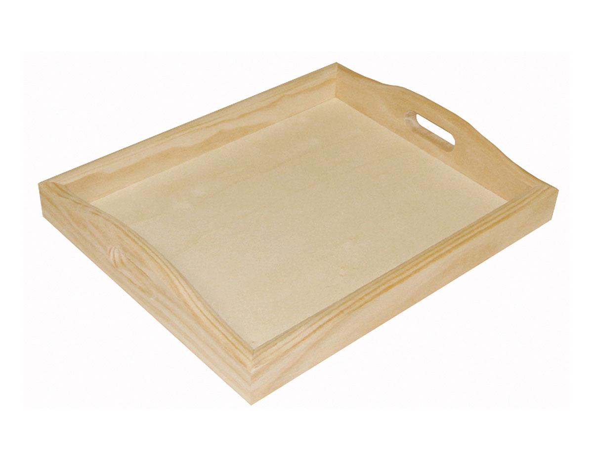 Bandeja madera de pino macizo manualidades 7962 for Bandejas de madera