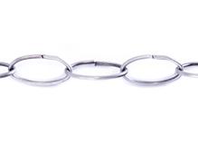 804014 Cadena metalica plateada envejecida Innspiro