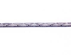 80801 Cadena metalica serpiente plateado envejecido Innspiro