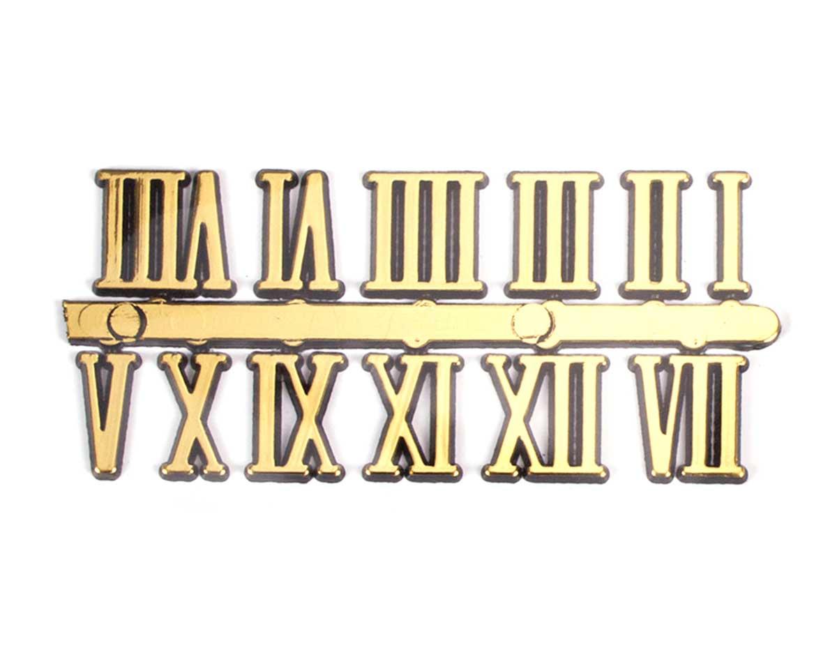 Numeros Romanos Dorado Manualidades 809