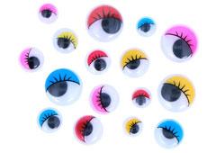 97161 Ojos moviles de colores autoadhesivos con pestanas medidas surtidas Innspiro