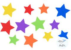 98004 Estrellas precortadas de goma eva adhesiva Innspiro