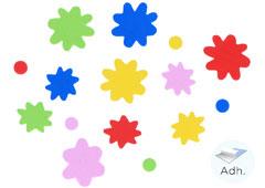 98014 Flores de goma eva adhesiva Innspiro