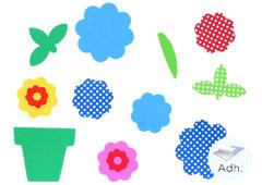 98030 Flores y macetas de goma eva adhesiva Innspiro