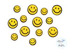 98032 Caras sonrientes de goma eva adhesiva Innspiro