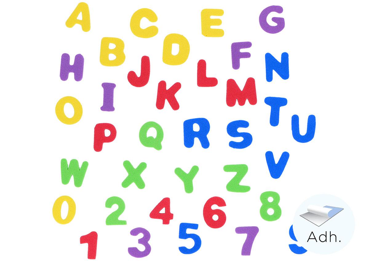Numeros 0 9 Y Letras Mayusculas De Goma Eva Adhesiva Manualidades 98041