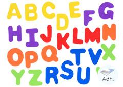98044 Letras mayusculas de goma eva adhesiva Innspiro
