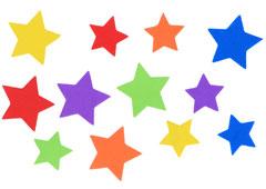 98304 Estrellas precortadas de goma eva Innspiro