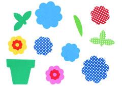98330 Flores y macetas de goma eva Innspiro