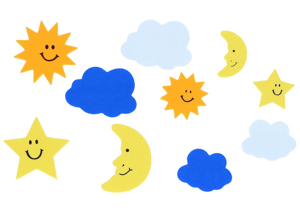6810b3781b0 Soles lunas estrellas y nubes de goma eva Manualidades 98331