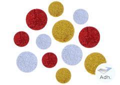 98601 Circulos precortados de goma eva adhesiva con purpurina Innspiro