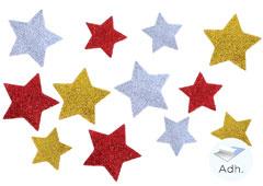 98604 Estrellas precortadas de goma eva adhesiva con purpurina Innspiro