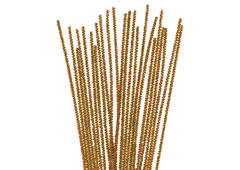 99076 Limpiapipas chenilla metalicas oro Innspiro
