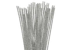 99081 Limpiapipas chenilla metalicas plata Innspiro