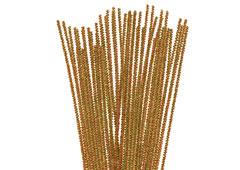 99086 Limpiapipas chenilla metalicas oro Innspiro
