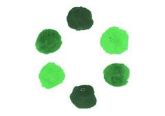 99304 Pompones acrilicos con tubo 3 tonos verde Innspiro