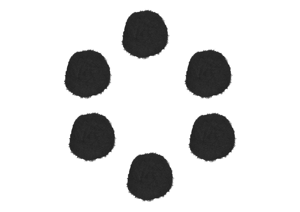 99412 Pompones polipropileno negro Innspiro