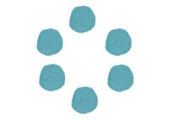 99413 Pompones polipropileno azul Innspiro - Ítem