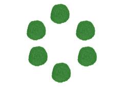 99414 Pompones polipropileno verde Innspiro