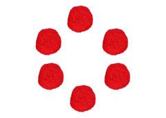 99415 Pompones polipropileno rojo Innspiro - Ítem