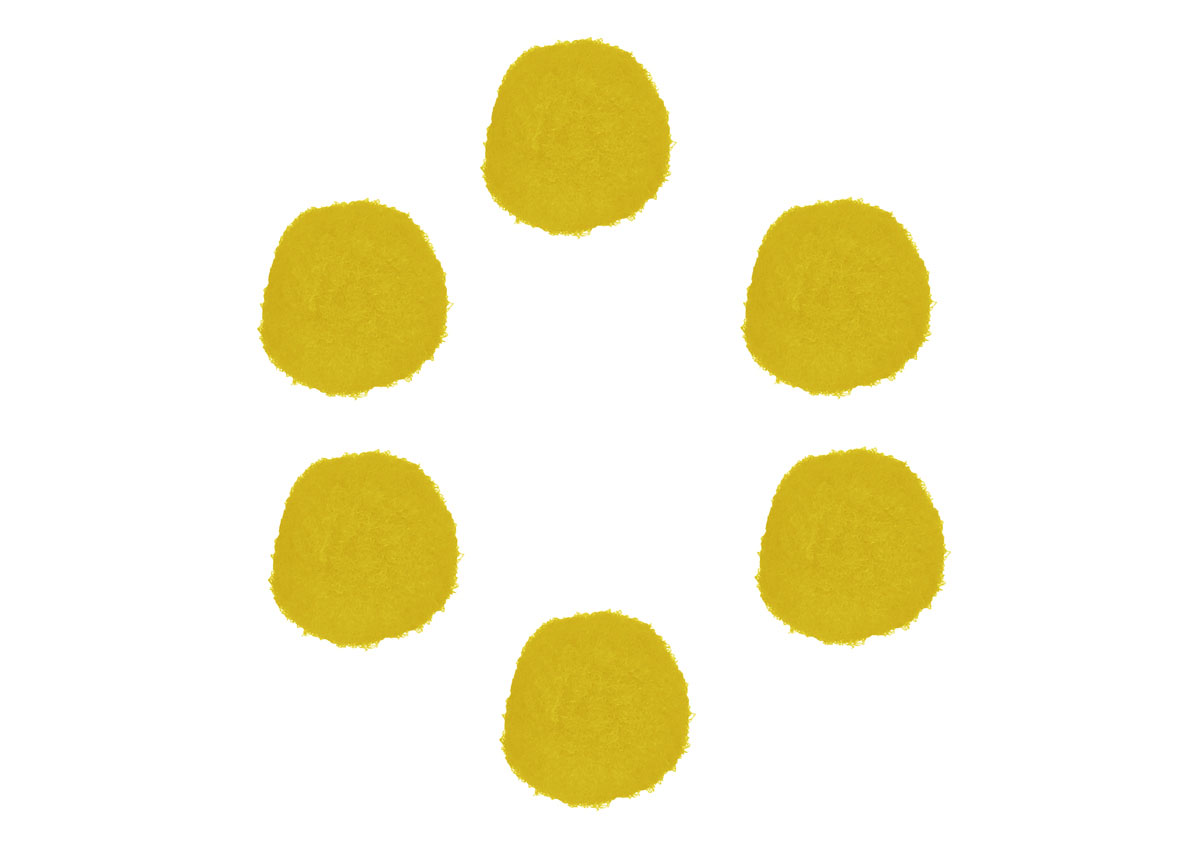 99416 Pompones polipropileno amarillo Innspiro
