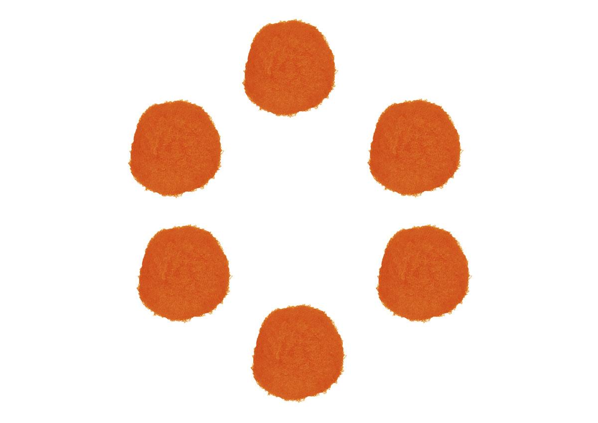 99417 Pompones polipropileno naranja Innspiro