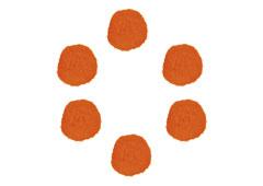 99417 Pompones polipropileno naranja Innspiro - Ítem