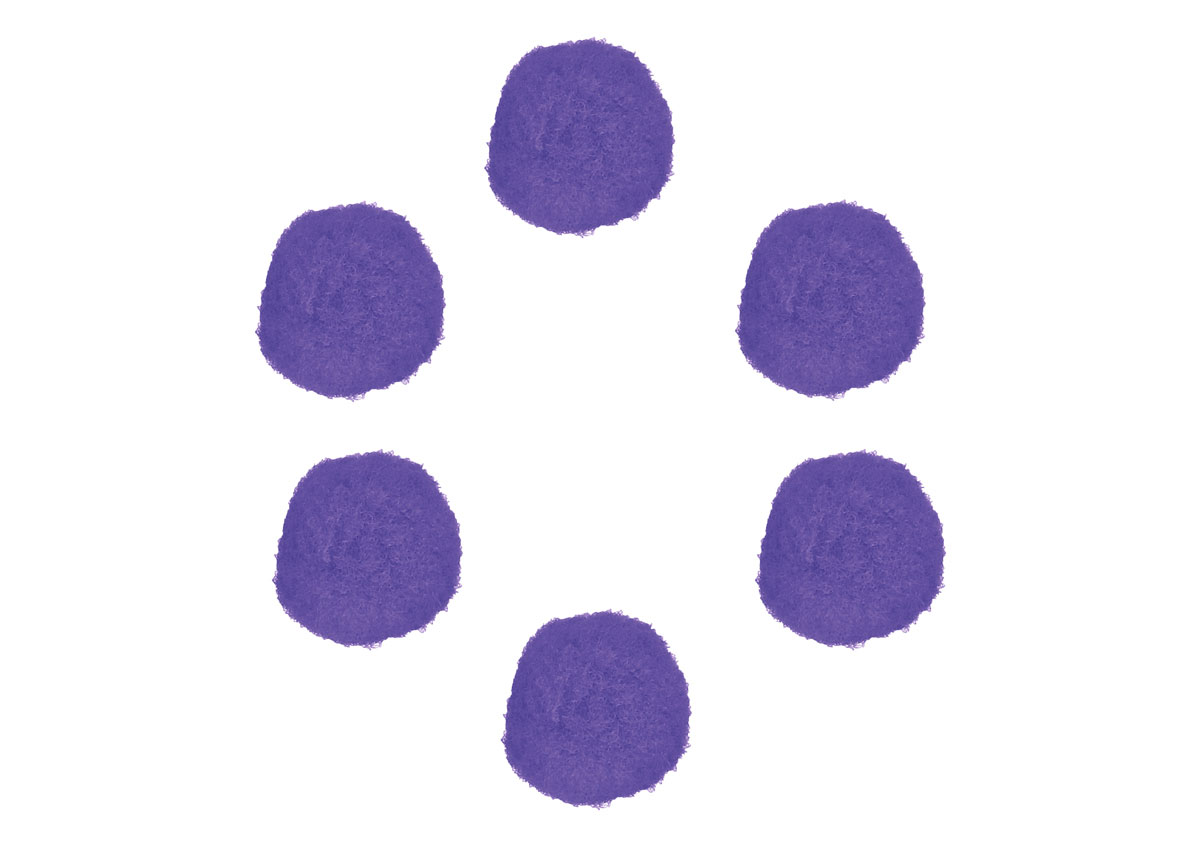 99418 Pompones polipropileno lila Innspiro