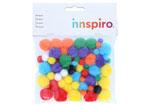 99440 Pompones mix medidas surtidas Innspiro - Ítem1