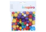 99450 Pompones brillantes mix medidas y colores Innspiro - Ítem1
