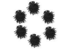 99462 Pompones brillantes negro Innspiro