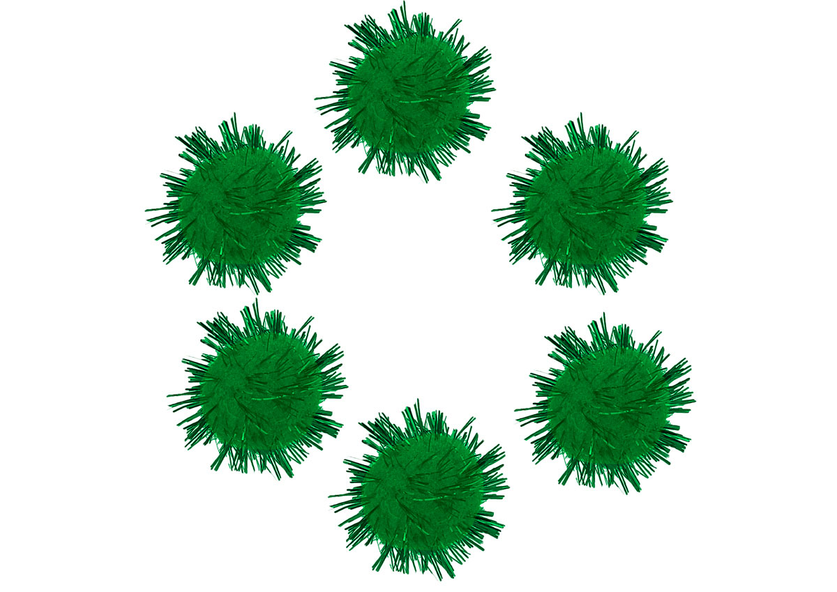 99464 Pompones brillantes verde Innspiro