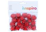 99465 Pompones brillantes rojo Innspiro - Ítem1