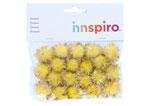 99466 Pompones brillantes amarillo Innspiro - Ítem1
