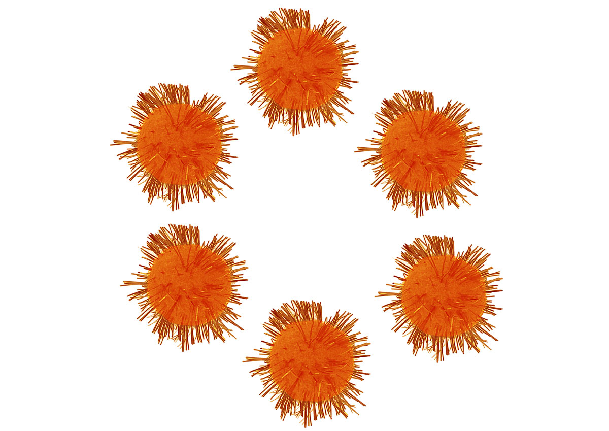 99467 Pompones brillantes naranja Innspiro