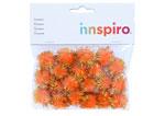 99467 Pompones brillantes naranja Innspiro - Ítem1