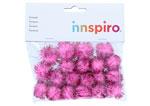 99469 Pompones brillantes rosa Innspiro - Ítem1