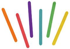 99500 Palos de polo madera mix colores Innspiro