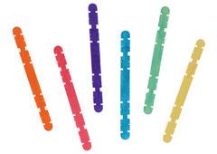 99520 Palos de polo madera con ranuras mix colores Innspiro