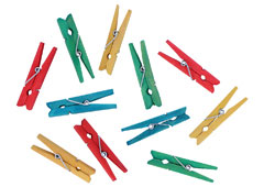 99600 Pinzas madera mix colores Innspiro