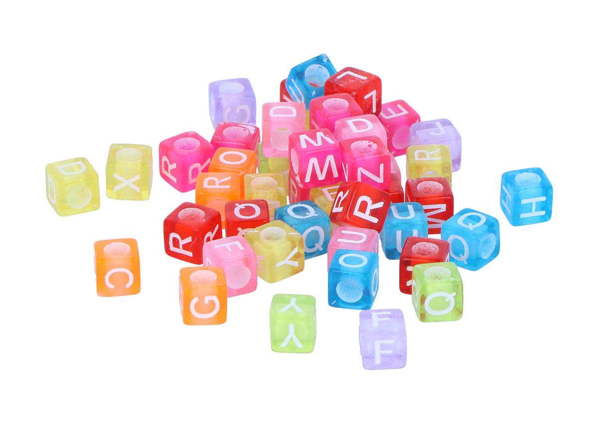 99629 Cuentas cubo letras plastico mix colores pastel Innspiro